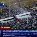 Argentina recibe a su selección de fútbol con multitudinaria celebración