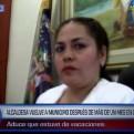 Tumbes: alcaldesa vuelve al municipio tras estar en la clandestinidad