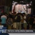 Jóvenes protestaron contra la minera Yanacocha en respaldo a Máxima Acuña