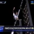 Francés escaló edificio espiral más grande del mundo