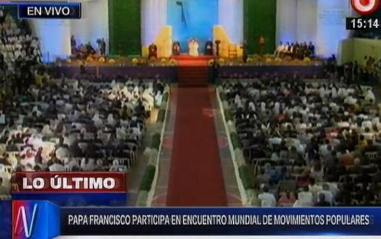 Papa Francisco participó en encuentro mundial de movimientos populares  | Internacionales
