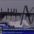 Pisco: fuerte oleaje destruyó malecón inaugurado hace 1 año
