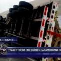 Dos accidentes de tránsito ocurrieron a la altura del KM 23 de la Panamericana Sur