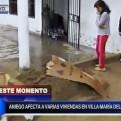VMT: aniego por explosión de tubería afecta a 15 viviendas