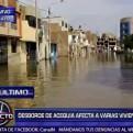 Chiclayo: desborde de acequia afecta varias viviendas, calles y parques