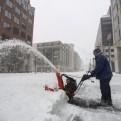 Estados Unidos: una gran tormenta de nieve paraliza su costa este