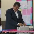 Alan García emitió su voto en colegio de Miraflores
