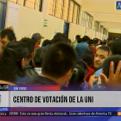 Elecciones 2016: el centro de votación de la UNI se va organizando