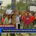 SJL: pobladores protestaron en contra de la construcción de un hospital