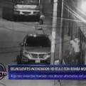 Los Olivos: incendian camioneta de comerciantes con bomba molotov