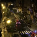 Bruselas: auto explotó y generó incendio cerca de restaurante