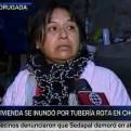 Chorrillos: rotura de tubería inundó vivienda