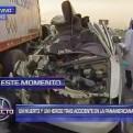 Lurín: una persona murió tras choque de camioneta contra camión