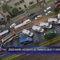 Jesús María: 17 heridos dejó accidente vehicular
