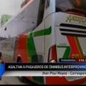 Chimbote: 30 pasajeros fueron asaltados en bus interprovincial