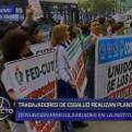 EsSalud: trabajadores realizan protesta exigiendo mejoras laborales