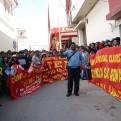 Cusco: docentes protestaron en el parque arqueológico de Sacsayhuamán