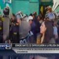 Cusco: comerciantes se enfrentaron a la Policía por decomiso de celulares