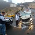La Molina: accidente de tránsito en cerro Centinela ocasionó congestión