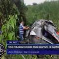 Tumbes: tres policías quedaron heridos en despiste de patrullero