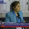 Presidenta del Congreso Luz Salgado no asistirá al Consejo de Estado