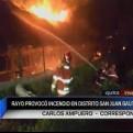 Loreto: rayo provocó incendio que consumió galpones de pollos