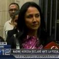 """Nadine Heredia tras salir de Fiscalía: Ollanta y yo """"estamos tranquilos"""""""