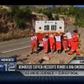 Ayacucho: autobomba de bomberos se malogró cuando iban a atender incendio