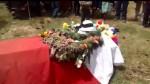 Apurímac: entierran cuerpo de poblador fallecido en enfrentamientos - Noticias de richard palomino