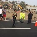Dos muertos y un herido dejó accidente vehicular en la Panamericana Sur