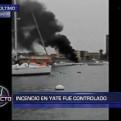 Callao: controlan incendio de yate en La Punta