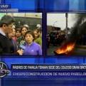 Independencia: padres protestan exigiendo construcción de colegio