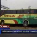 Lurín: despiste de bus interprovincial dejó al menos 28 heridos