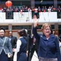 Nancy Lange y la primera dama de China visitaron Colegio Juan XXIII