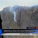 Lambayeque: sobrevuelan zonas afectadas por incendio forestal