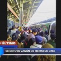 Metro de Lima: vagón sufrió avería en la Estación Ayacucho