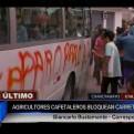 Chanchamayo: cafetaleros bloquean la Carretera Central por paro indefinido