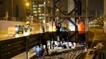 Vía Expresa: iniciaron los trabajos de reparación en puente impactado por camión - Noticias de vía expresa
