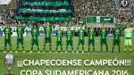Conmebol proclamó campeón de la Copa Sudamericana 2016 al Chapecoense - Noticias de accidente