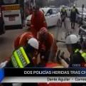 Cusco: dos policías resultaron heridos tras choque con un vehículo