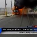Barranca: bus de servicio interprovincial se incendió en Panamericana Norte