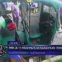 Ate Vitarte: niña de 11 años falleció en accidente vehicular
