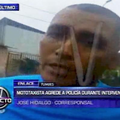 Mototaxista agredió a un policía durante intervención en Tumbes