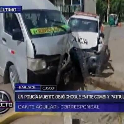 Cusco: un policía falleció y siete quedaron heridos en accidente vehicular