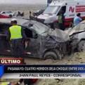 Pasamayo: cuatro heridos dejó violento accidente vehicular
