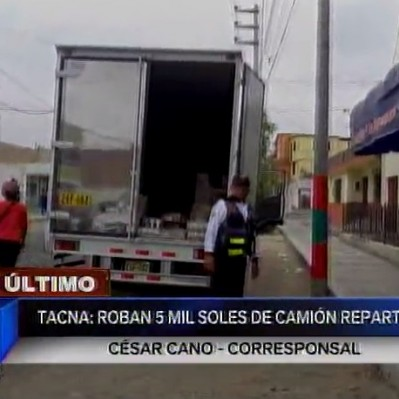 Tacna: delincuentes se llevan más de S/ 5 mil de camión repartidor
