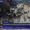 Cusco: carretera hacia Paruro dañada por deslizamiento de tierra