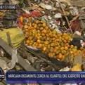 El Agustino: arrojan desmonte de basura cerca al cuartel 'Barbones'