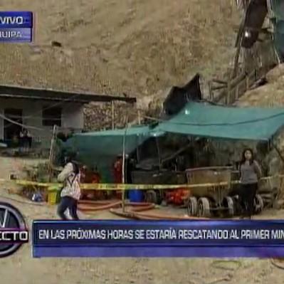 Arequipa: equipo de rescate de empresa Buenaventura ingresó al socavón