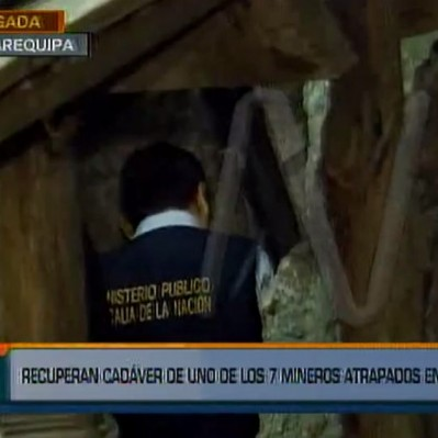 Hallaron cuerpo de uno de los siete mineros atrapados en Arequipa